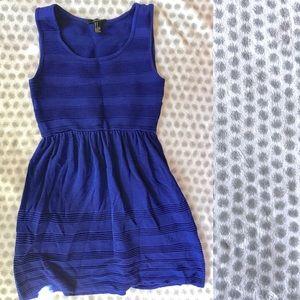 Royal blue ribbed mini dress - medium